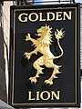 Sign for the Golden Lion - geograph.org.uk - 852121.jpg