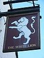 Sign for the White Lion, Soberton - geograph.org.uk - 685953.jpg