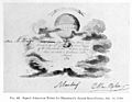 Signed ticket for Blanchard Balloon Ascent 1784. Wellcome M0010325.jpg