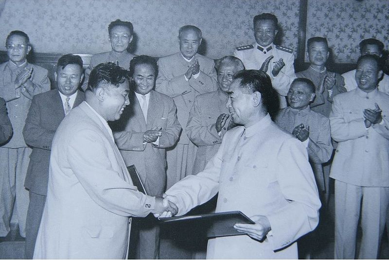 File:Signing Sino-North Korean Mutual Aid and Cooperation Friendship Treaty, July 1961.jpg
