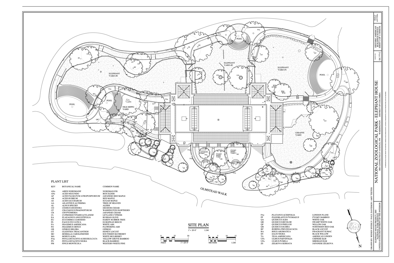 File Site Plan National Zoological Park Elephant House