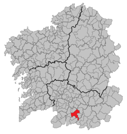 Situation of Xinzo de Limia within Galicia