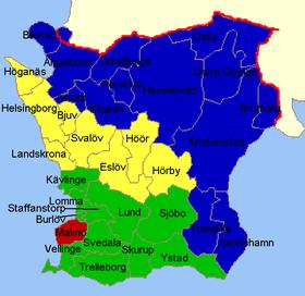 karta skåne län Skåne län – Wikipedia karta skåne län