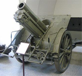 15 cm schwere Feldhaubitze M 14 - An M.14 in the Heergeschlictes museum, Vienna