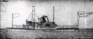 USS Smith-Briggs - Sketch of the Smith-Briggs gunboat