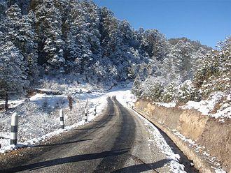 Solukhumbu District - A road section in Solukhumbu.