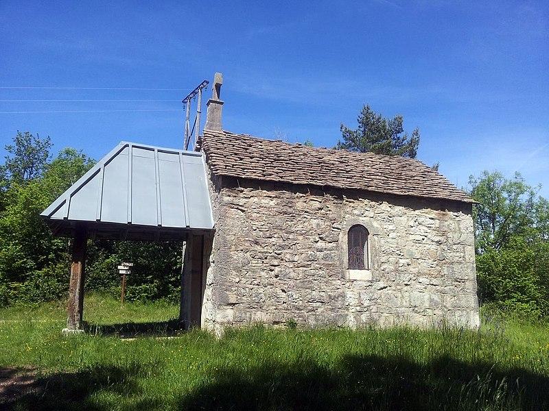 Chapelle Notre-Dame de l'Étoile ou chapelle «des Chasseurs» située à Napt (ancienne commune), hameau de Sonthonnax-la-Montagne (Ain).