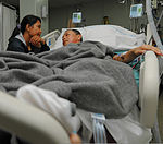 Sony Kembuan, an Indonesian patient, rests after surgery in the intensive care unit aboard Military Sealift Command hospital ship USNS Mercy (T-AH 19) in Sangihe, North Sulawesi, Indonesia, June 3, 2012, during 120603-N-GI544-019.jpg