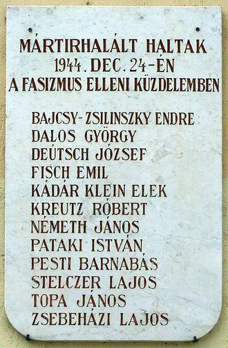 Sopronkőhida - Sopronkőhida martyrs plaque