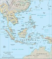 Topography of Southeast Asia.