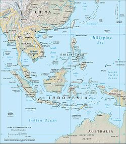 Map of South-Eastern Asia