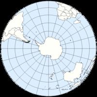 Το Νότιο Ημισφαίριο με την Ανταρκτική στο κέντρο