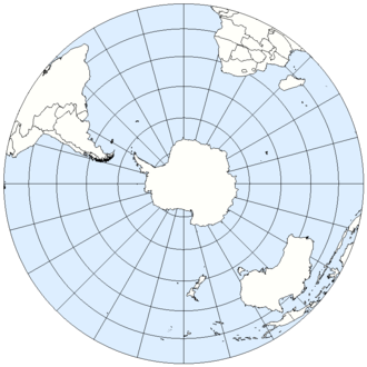 Southern Hemisphere - The Southern Hemisphere from above the South Pole