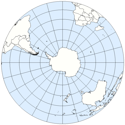 The Southern Hemisphere from above the South Pole Southern Hemisphere LamAz.png