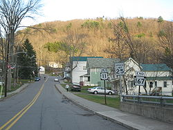 Southern terminus of Pennsylvania State Route 167 in Hop Bottom.jpg
