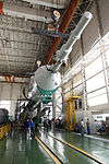 Soyuz TMA-05M spacecraft and booster at the Integration Facility.jpg