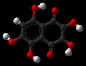 2,3,5,6,8-Pentahydroxy-1,4-naphthalenedione - Image: Spinochrome D 3D balls