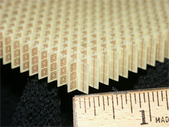 Metamaterial - Image: Split ring resonator array 10K sq nm