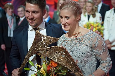 Sportler des Jahres Österreich 2016 Eva-Maria Brem Marcel Hirscher 1.jpg