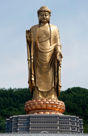 Spring Temple Buddha - Image: Spring Temple Buddha picturing Vairocana, in Lushan County, Henan, China