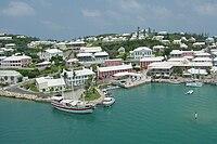 Historische Stadt St. George mit Festungsanlagen