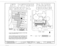 St. Peter's Parish (Episcopal Church), Eighth Street and Atlantic Avenue, Fernandina Beach, Nassau County, FL HABS FLA,45-FERB,7- (sheet 1 of 6).png