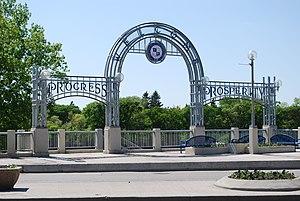 Glenwood, Winnipeg - The St. Vital Arch in Glenwood