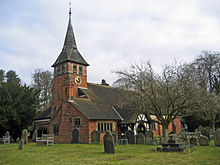 colour photograph of St Mary's church in 2009