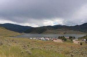 Stagecoach Dam - Stagecoach Dam (center left) on Stagecoach Reservoir.