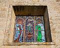 Stained glass of Saint Mary Church in Iria Flavia, Padrón, Galicia, Spain.jpg