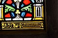 Stained glass window, St George's church, Brede (16227524531).jpg