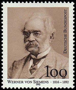 Katharineum - Image: Stamp of Germany.Werner von Siemens,1992
