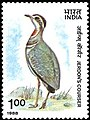 Stamp of India - 1988 - Colnect 165267 - Jerdon s Courser Rhinoptilus bitorquatus.jpeg