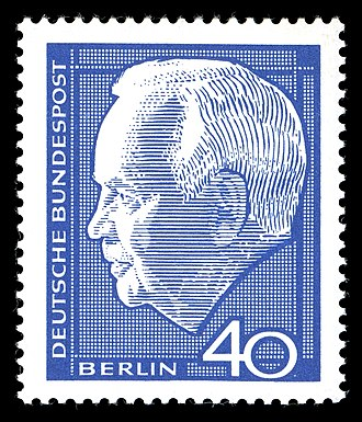 Heinrich Lübke - Definitive stamp during his term