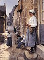 Stanhope Forbes A Street in Brittany 1881.jpg