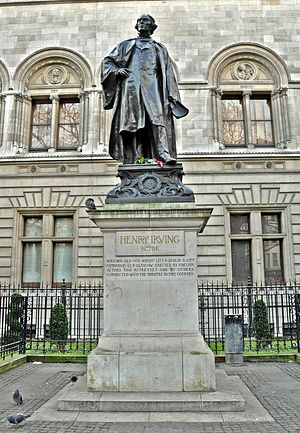 Statue of Henry Irving, London - The sculpture in 2012