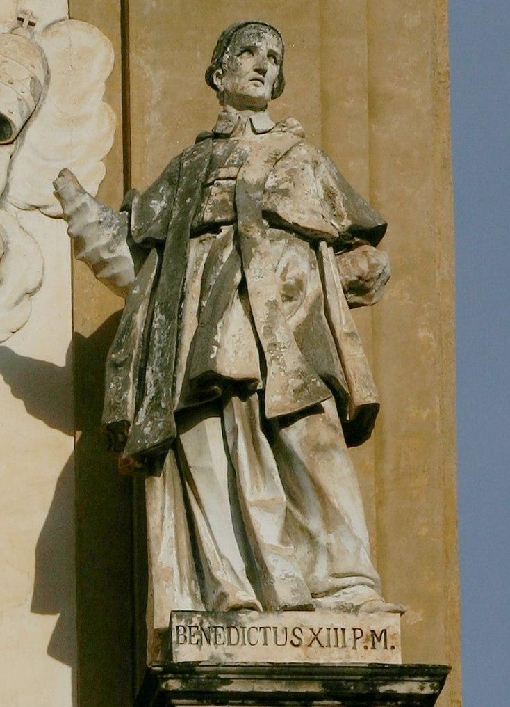 Statue of Pope Benedictus XIII - San Domenico - Palermo - Italy 2015