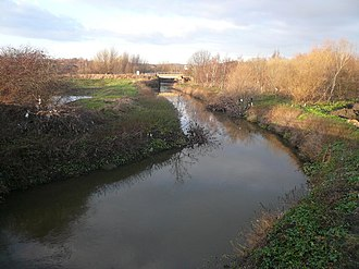 River Rother, South Yorkshire - The river at Staveley