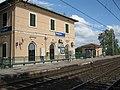 Stazione di Bolgheri, Fabbricato viaggiatori lato piazzale del ferro.JPG