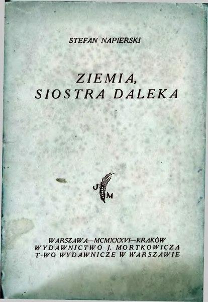 File:Stefan Napierski-Ziemia, siostra daleka.djvu