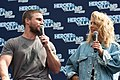Stephen Amell and Emily Bett Rickards HVFFLondon2017Amell-ALS-16 (35273104726).jpg