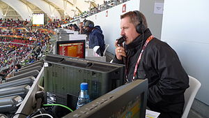 Steve Bower - Steve Bower commentating for BBC TV's World Cup 2010, South Africa