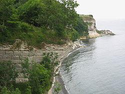 The Cliffs of Stevns south of Copenhagen