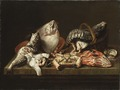Still Life with Fishes, a Crab and Oysters (Isaac van Duynen) - Nationalmuseum - 18452.tif
