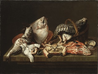 Still Life with Fishes, a Crab and Oysters