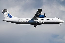 Een Stobart Air ATR 72-200 op Glasgow Airport