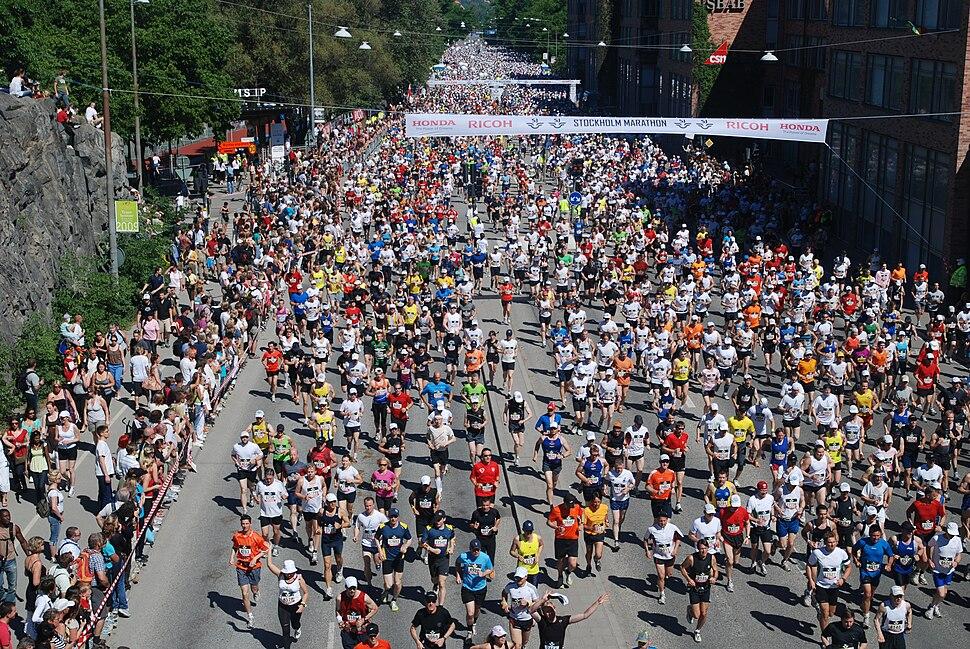 Stockholmmarathon 2009-start3