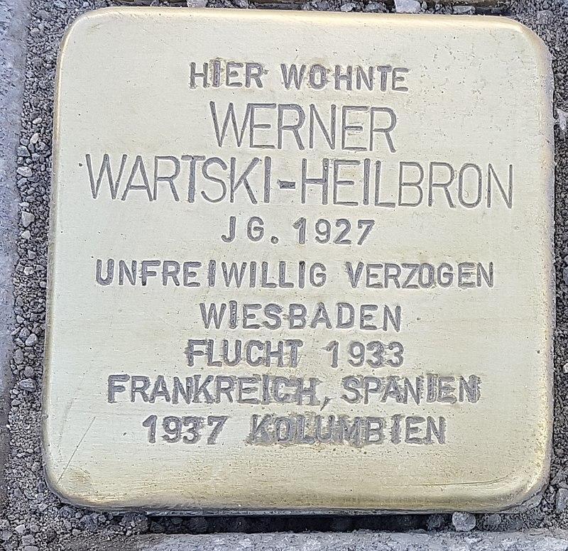 Stolperstein Aalen Werner Wartski-Heilbron Bahnhofstraße 18.jpg