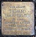 Stolperstein Bayerische Str 4 (Wilmd) Siegmund Lewin-Richter.jpg
