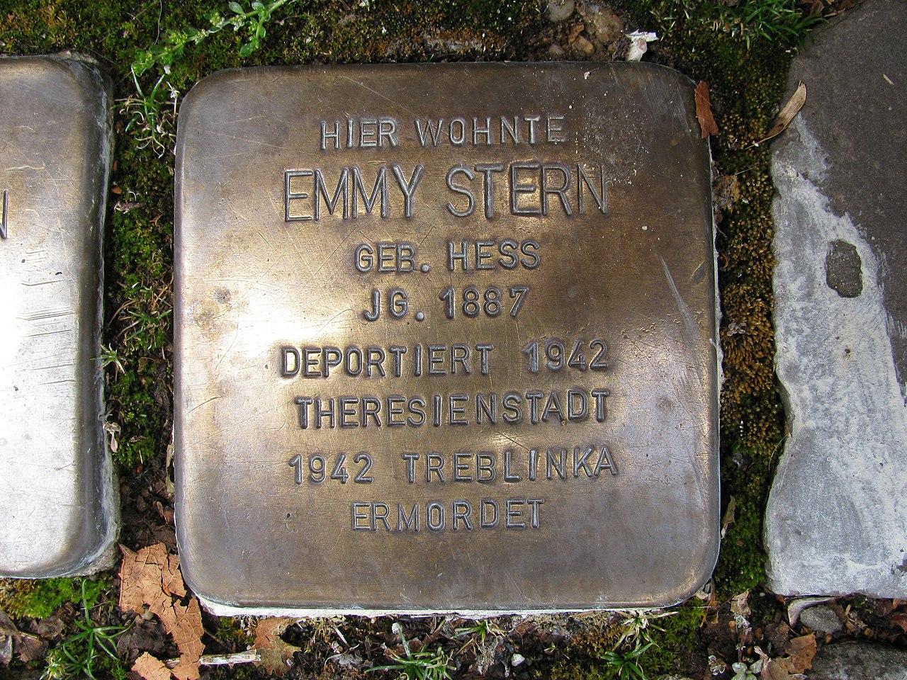 Stolperstein Emmy Stern, 1, Weststraße 44, Schmallenberg, Hochsauerlandkreis.jpg